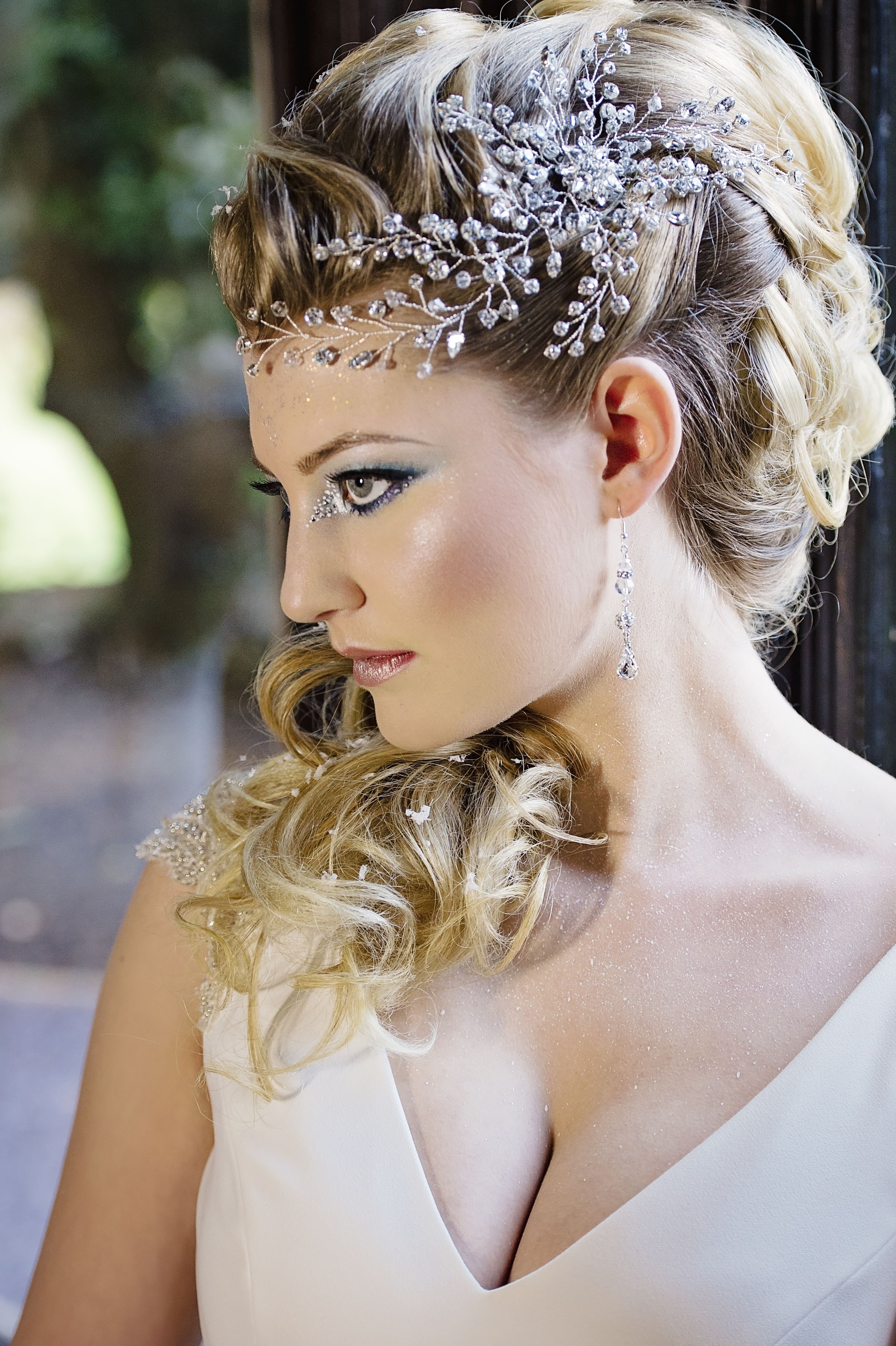 ice queen inspired bridal photo shoot. make-up by rachel