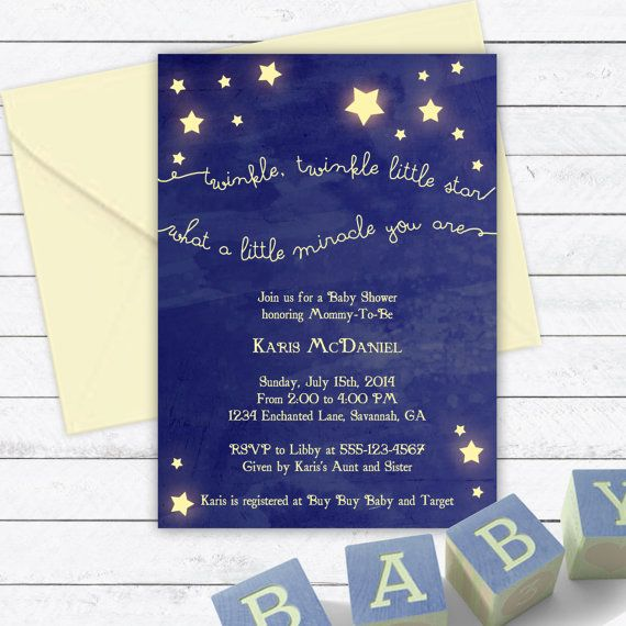 Twinkle Twinkle Little Star Baby Shower by EnchantedDesigns4U