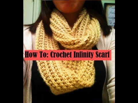 How To Crochet Ribbed Infinity Scarf Crafts Pinterest