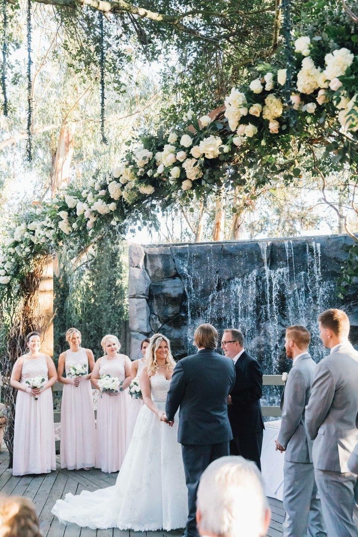 Oak Room Calamigos Ranch Ceremony Calamigos Ranch Wedding Outside Wedding Moss Wedding