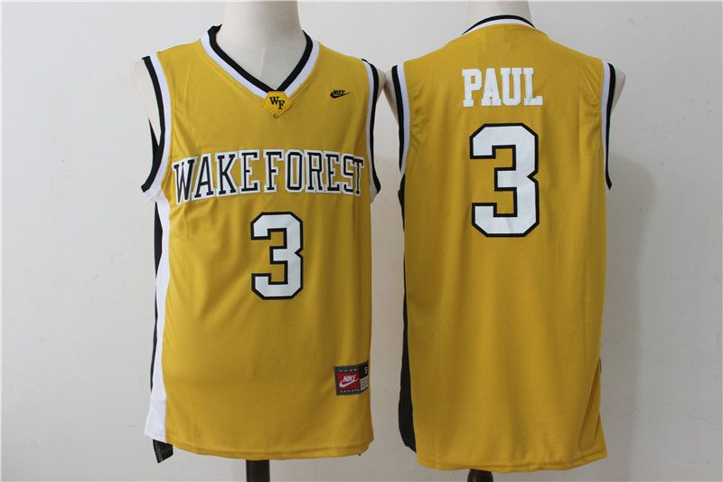 Wake Forest Demon Deacons 3 Chris Paul Gold College Basketball Jersey 4f408bfed