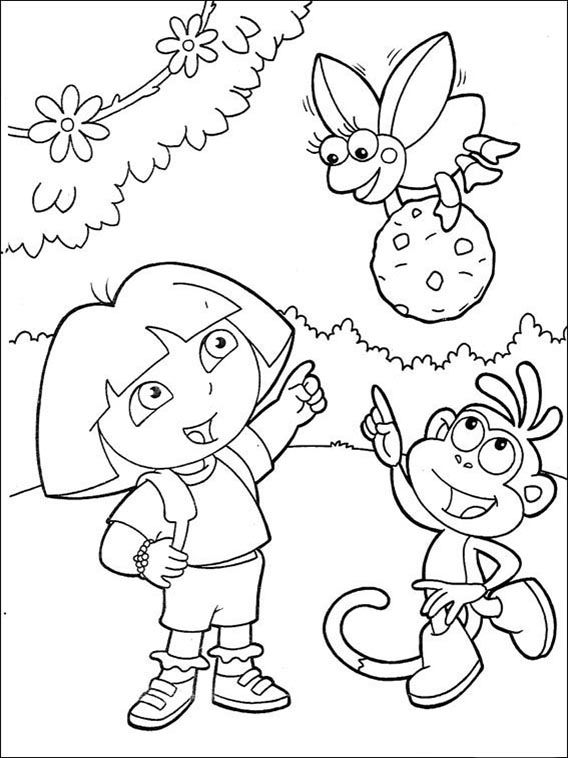Dora The Explorer Online Coloring Pages Printable Book For Kids 115