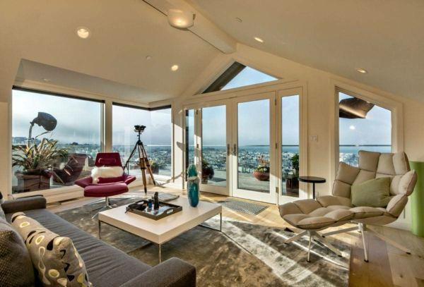 Wohnzimmereinrichtung Ideen Franzsisches Fenster Einrichtungstipps