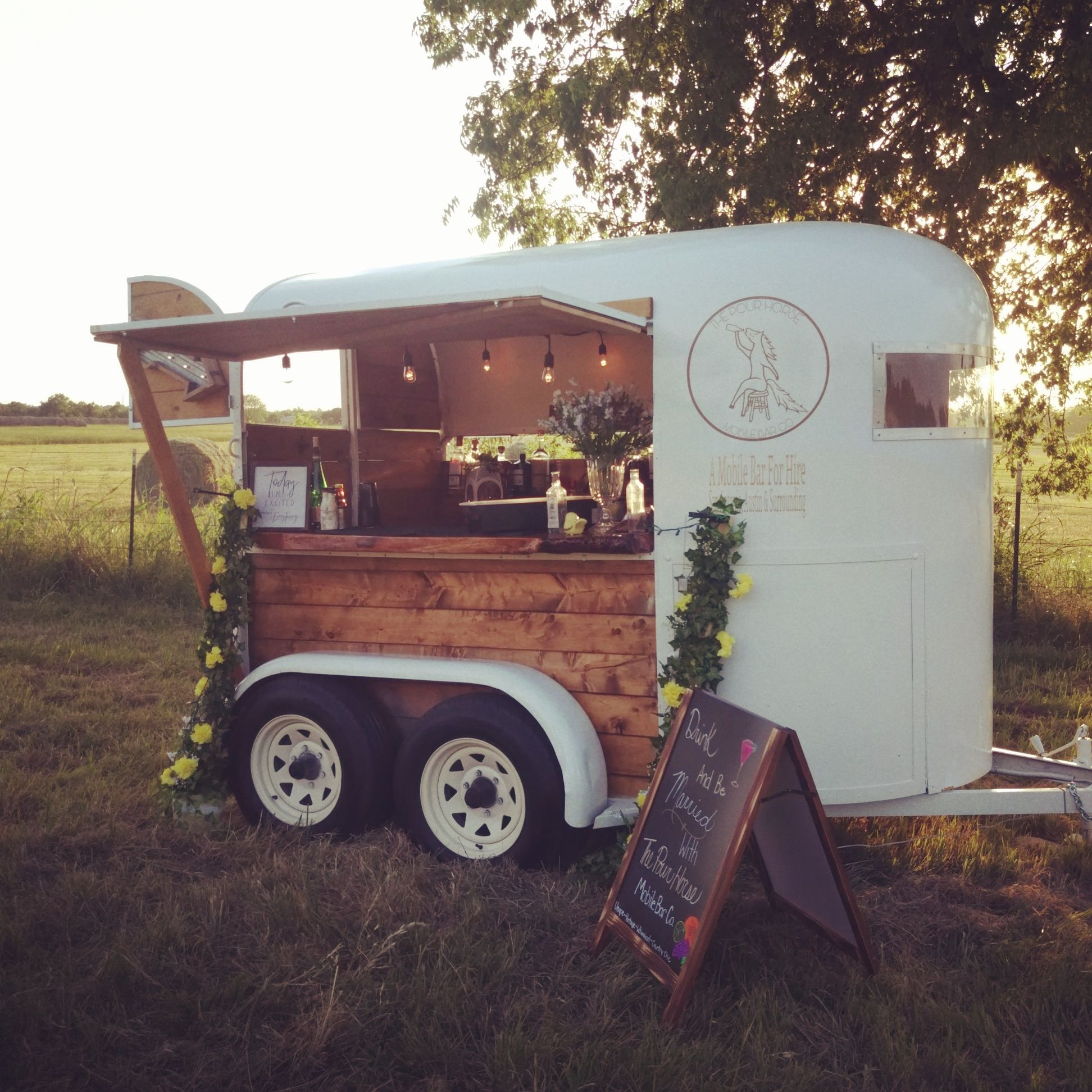 Converting horse trailer into a mobile bar. Want your own