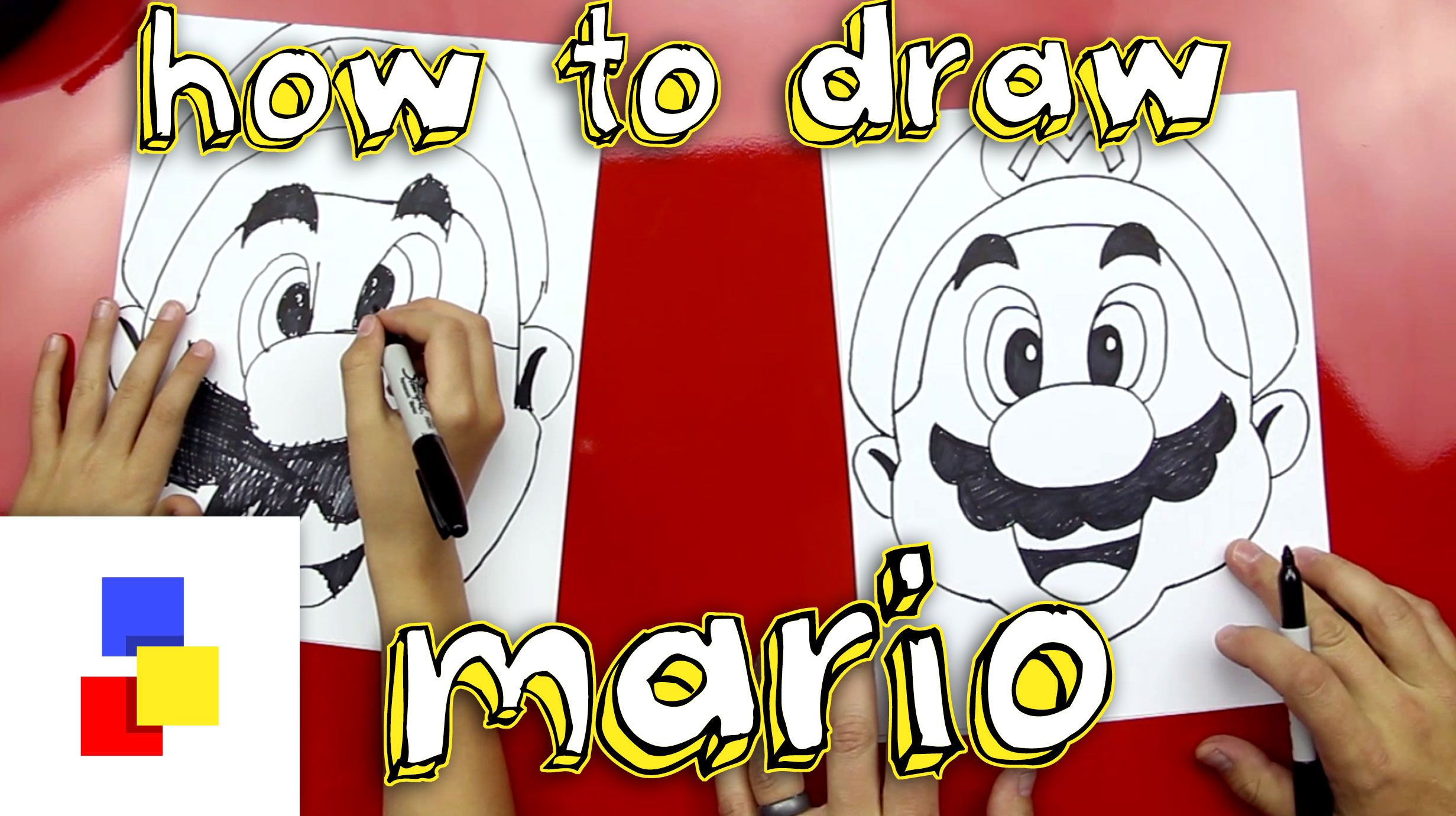 How To Draw Mario - Art For Kids Hub -   Game character ...