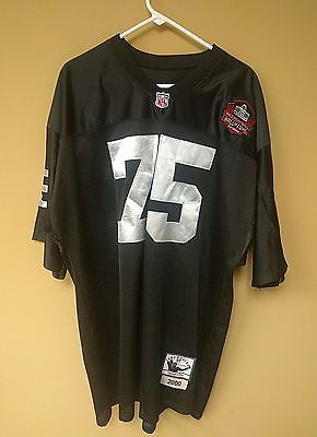 official photos d4e29 198fe OAKLAND RAIDERS HOWIE LONG MITCHELL & NESS Year 2000 Hall Of ...