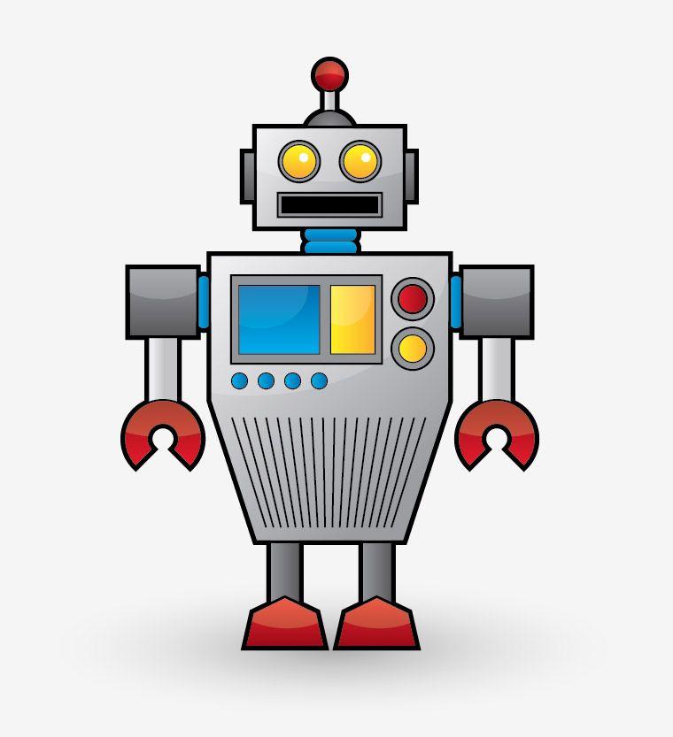Create a Cool Vector Robot Character in Illustrator Robot - new robot blueprint vector art