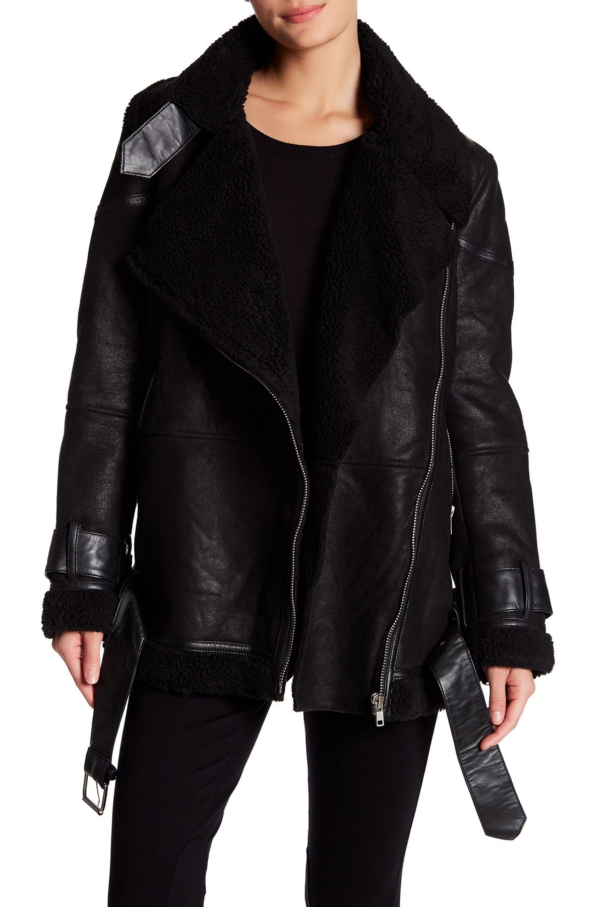 W118 by Walter Baker Bria Lamb Leather Faux Shearling