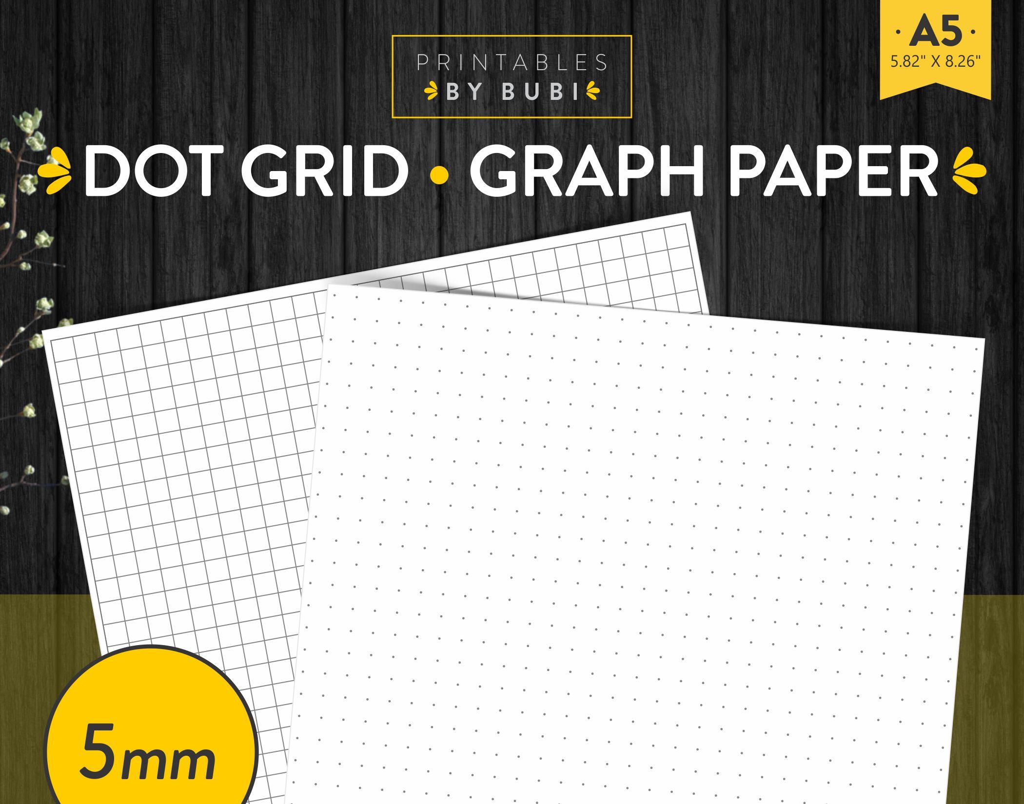 Dot Grid Paper 5mm Graph Paper Printable Planner, Grid Paper ...