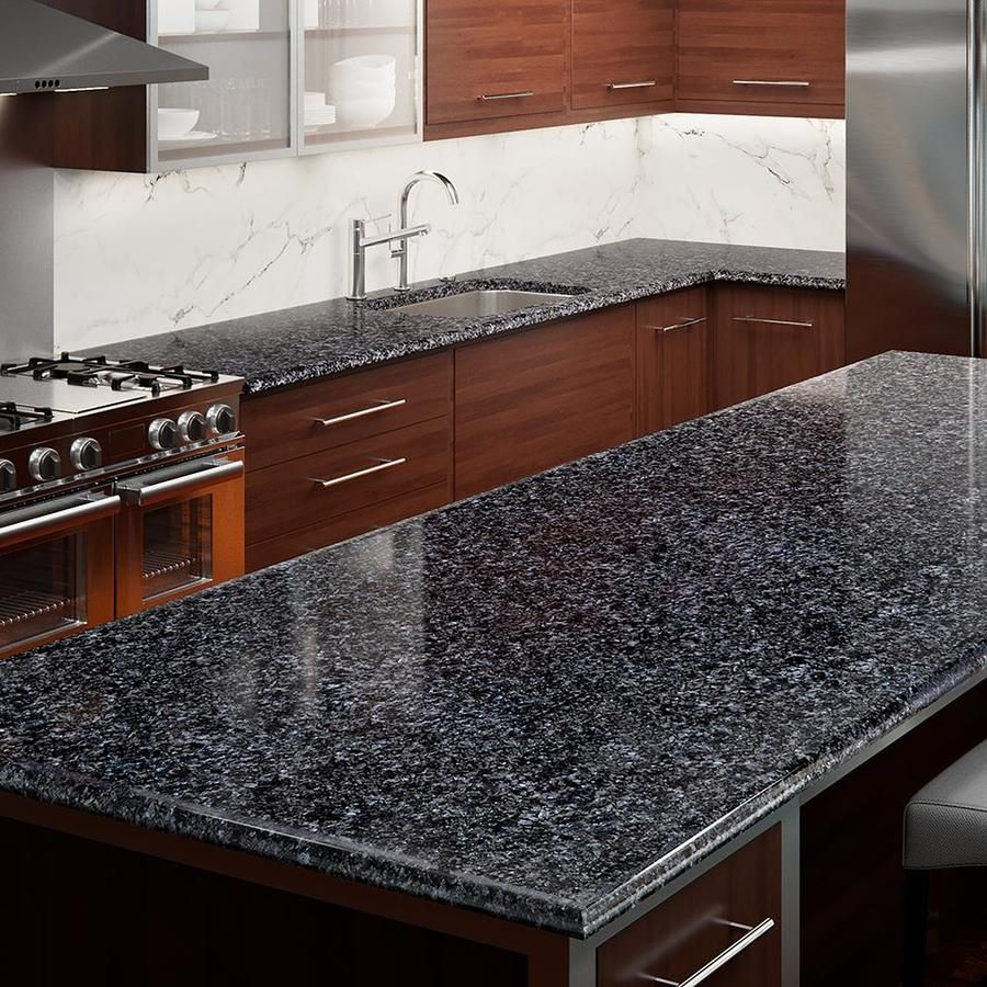 Allen Roth Blue Pearl Granite Kitchen Countertop Sample Lowes