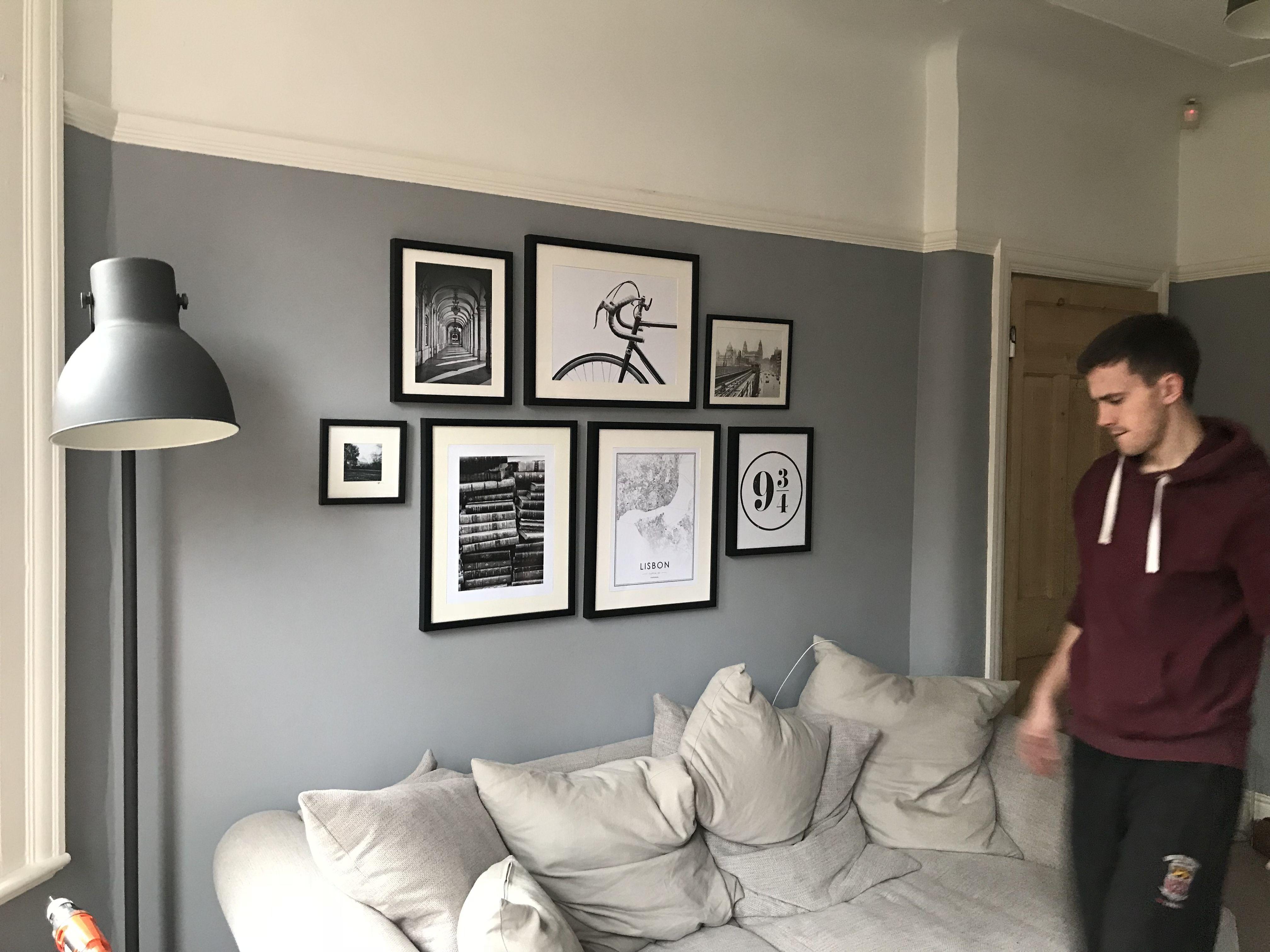 Dulux Warm Pewter Living Room Gallery Wall Grey Paint Li
