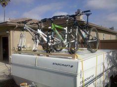 diy bike rack for pop up camper