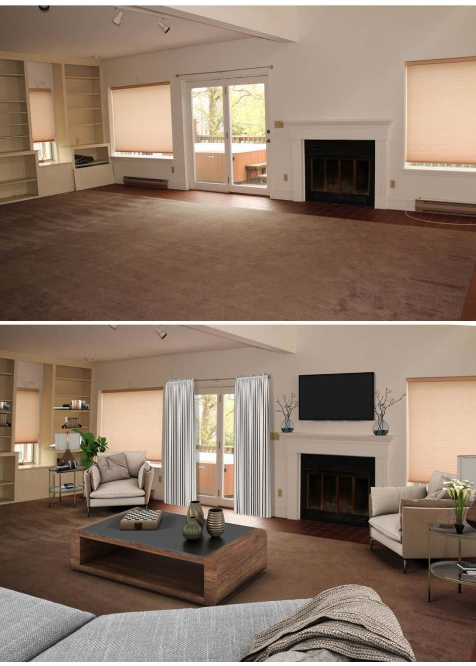 Design Your Room Virtual: Virtual Staging Living Room Before And After A Tool To