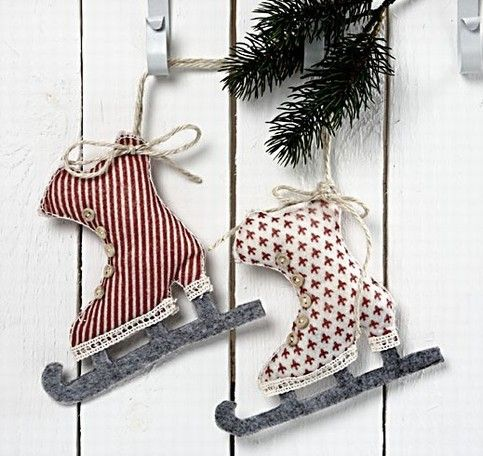 schlittschuhe aus filz zum aufh ngen aufh ngen filz und. Black Bedroom Furniture Sets. Home Design Ideas