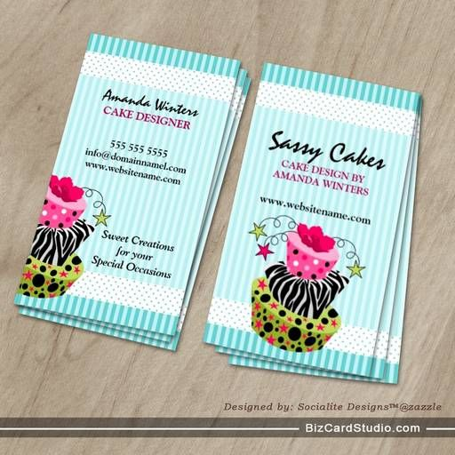 Cake Bakery Business Cards