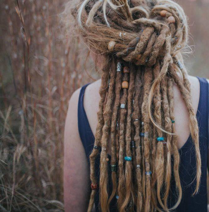 Beautiful Hand Dyed Australian Silk Thread for DIY Dreadlock Wrap
