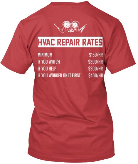 Ltd Edt Hvac Rates Teespring Hvac Repair Hvac Tech Hvac