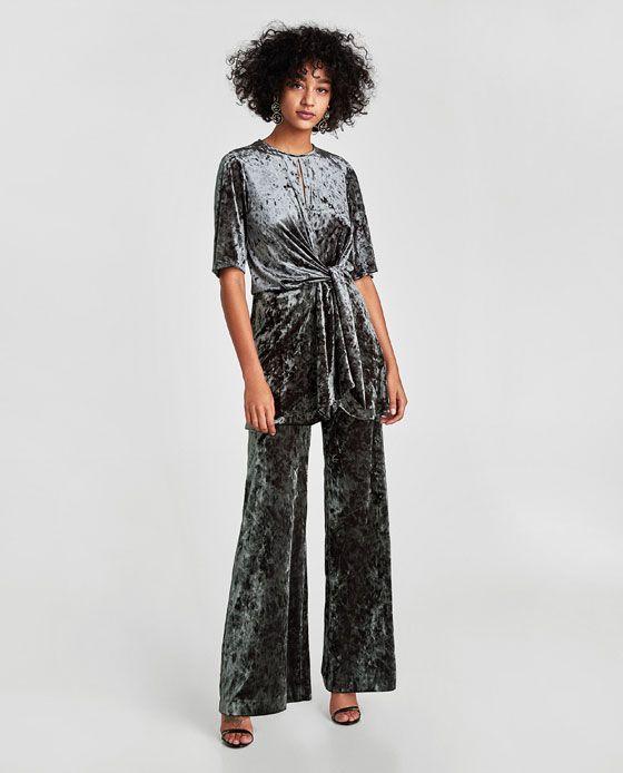 da7c158c Image 1 of VELVET MINI DRESS WITH DRAPED DETAIL from Zara | Best of ...