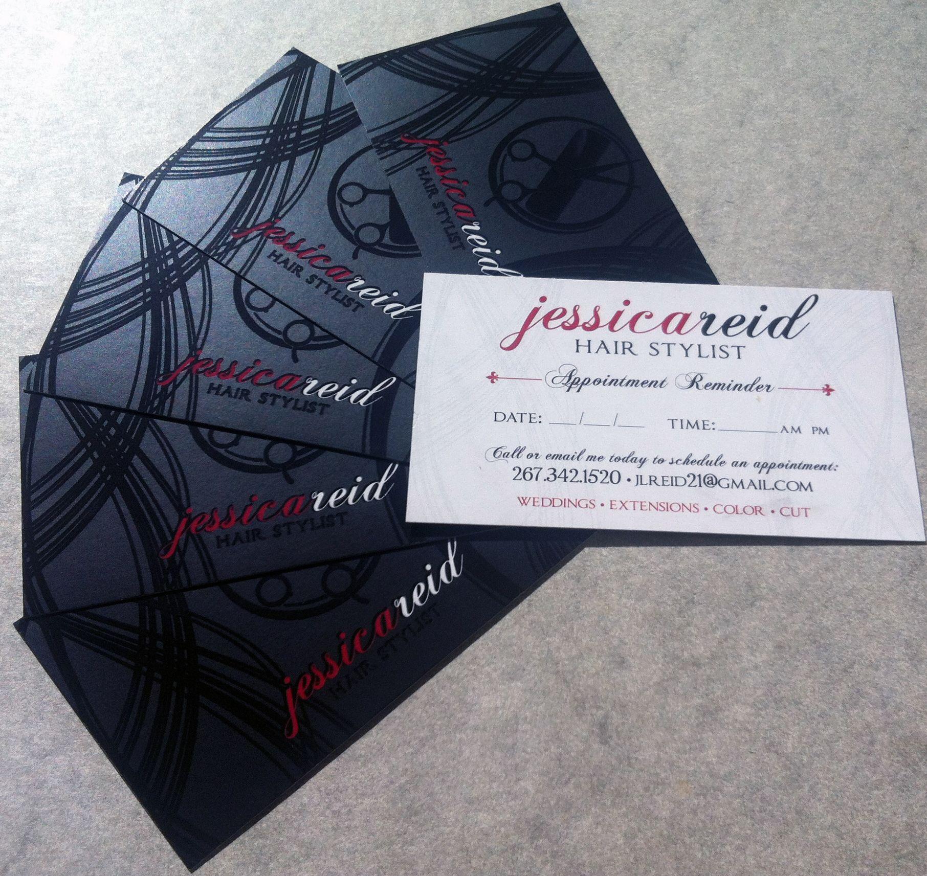 Spot Gloss Silk Finish Business Card for Hair Salon   Beautiful ...