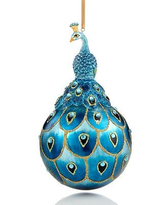 christmas ornament blue peacock - Peacock Blue Christmas Decorations