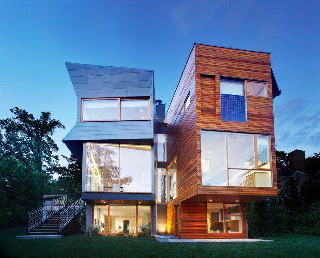 Traumhaus modern  Schöner Mix aus Holz und Stein #Villa #Traumhaus #modern ...