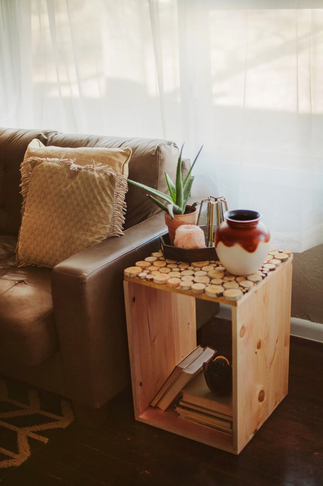 Birch wood table diy sincerely kinsey diy obsessed for Diy coffee and end tables