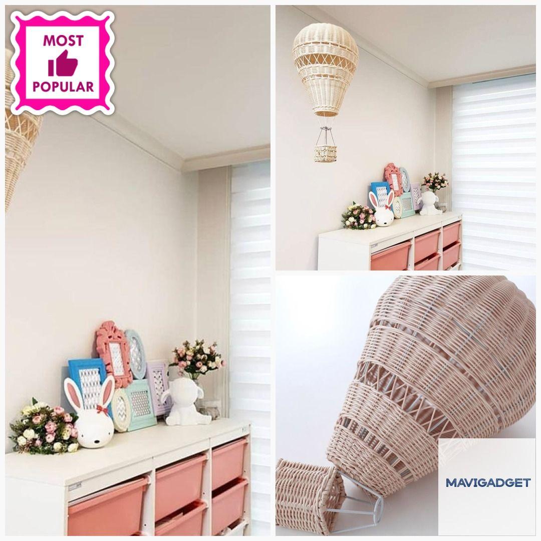 Handmade Nordic Hot Air Balloon Hanging Decor #luxuryhome #homeshop #homestuffshop #homeshopping #homedecorationideas #homedecor #decorationidea #homestuff #homedecorstuff #decorationideas