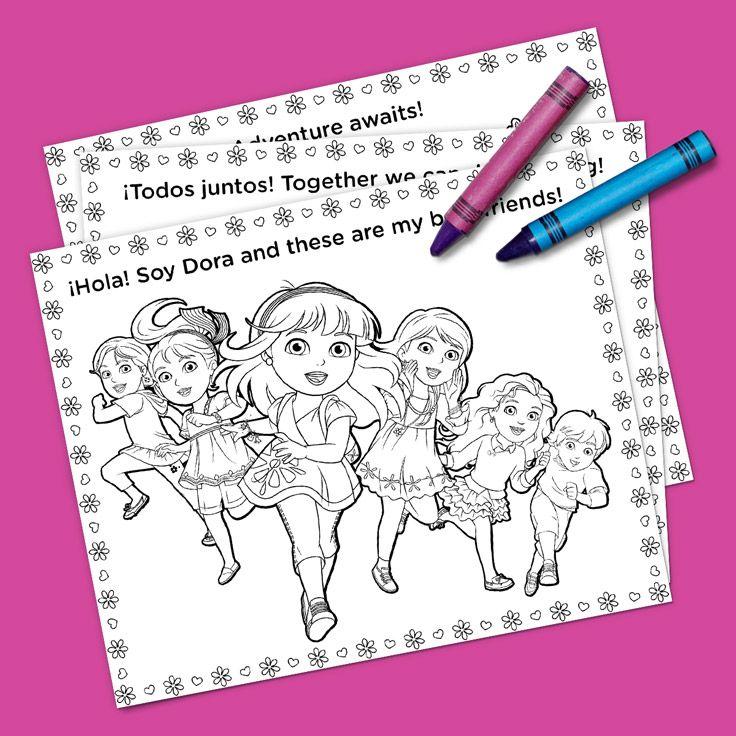 Lujo Dora Coloring Pages Juegos Inspiración - Ideas Para Colorear ...