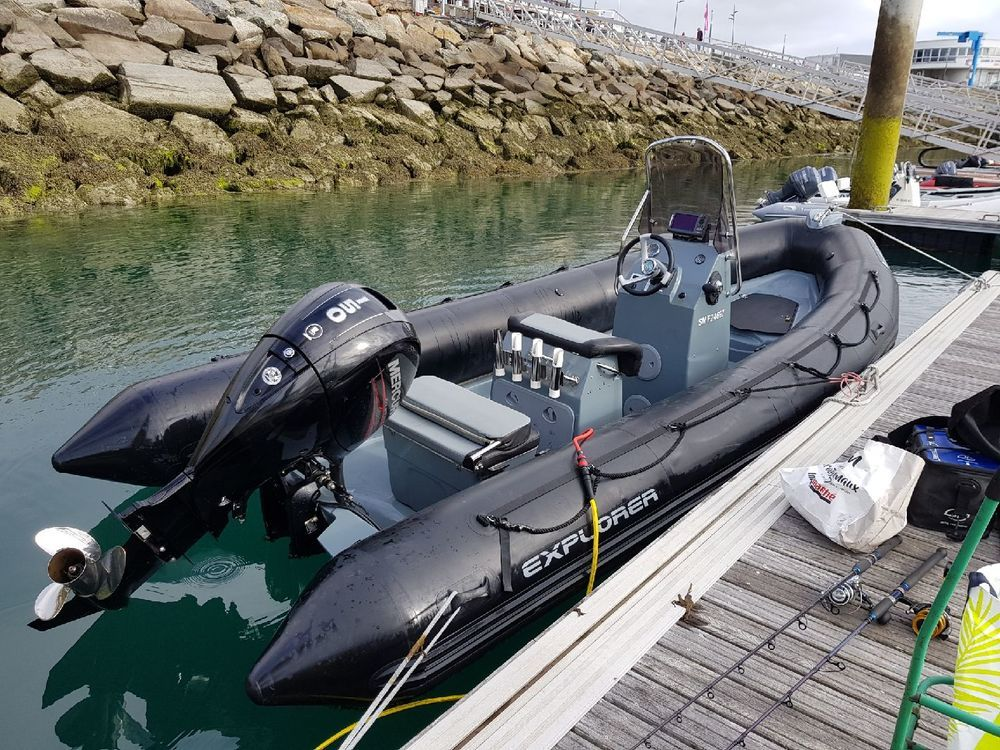 Bombaed Explorer 600 Semi Rigide 2015 150 Cv Mercury 23000 Avec Remorque Bateau A Moteur Bateaux Vente De Bateau