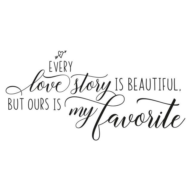 Wandtattoo »Favorite Love Story«