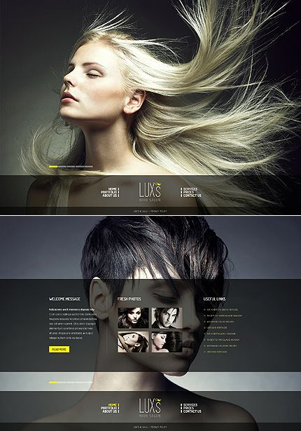 Luxs Hair Moto CMS HTML Templates By Delta