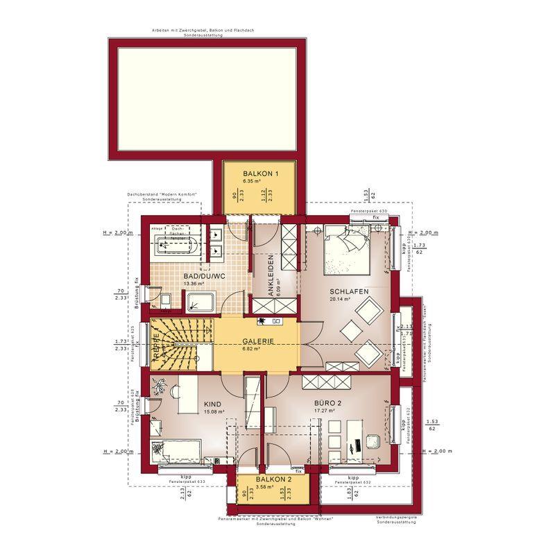 Höchst komfortabel und mit viel architektonischem Design bietet das ...