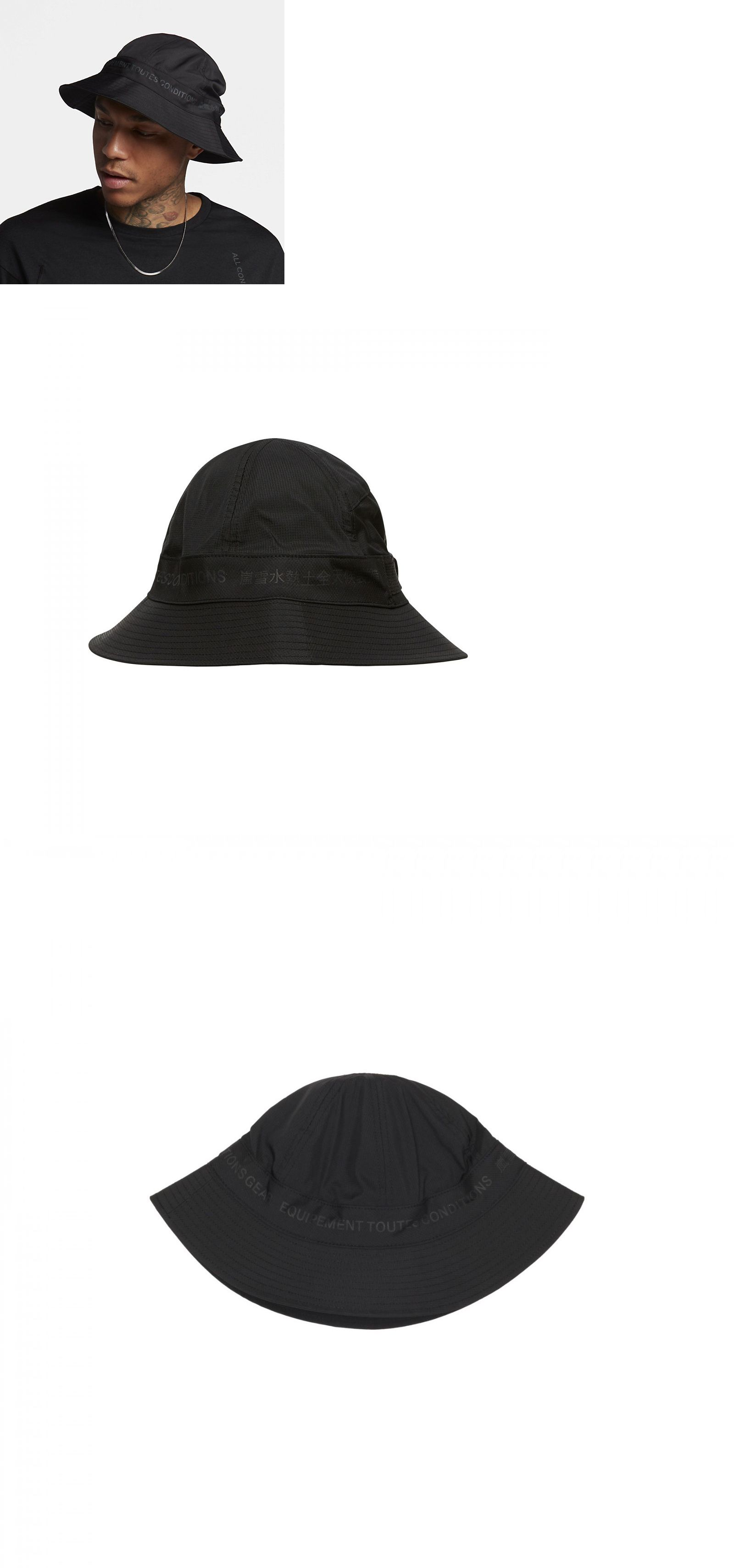 154033cb44358 Hats 163543  New With Tags Nikelab Acg Bucket Hat Black Acronym 907821-010  Cap In Hand -  BUY IT NOW ONLY   188 on eBay!