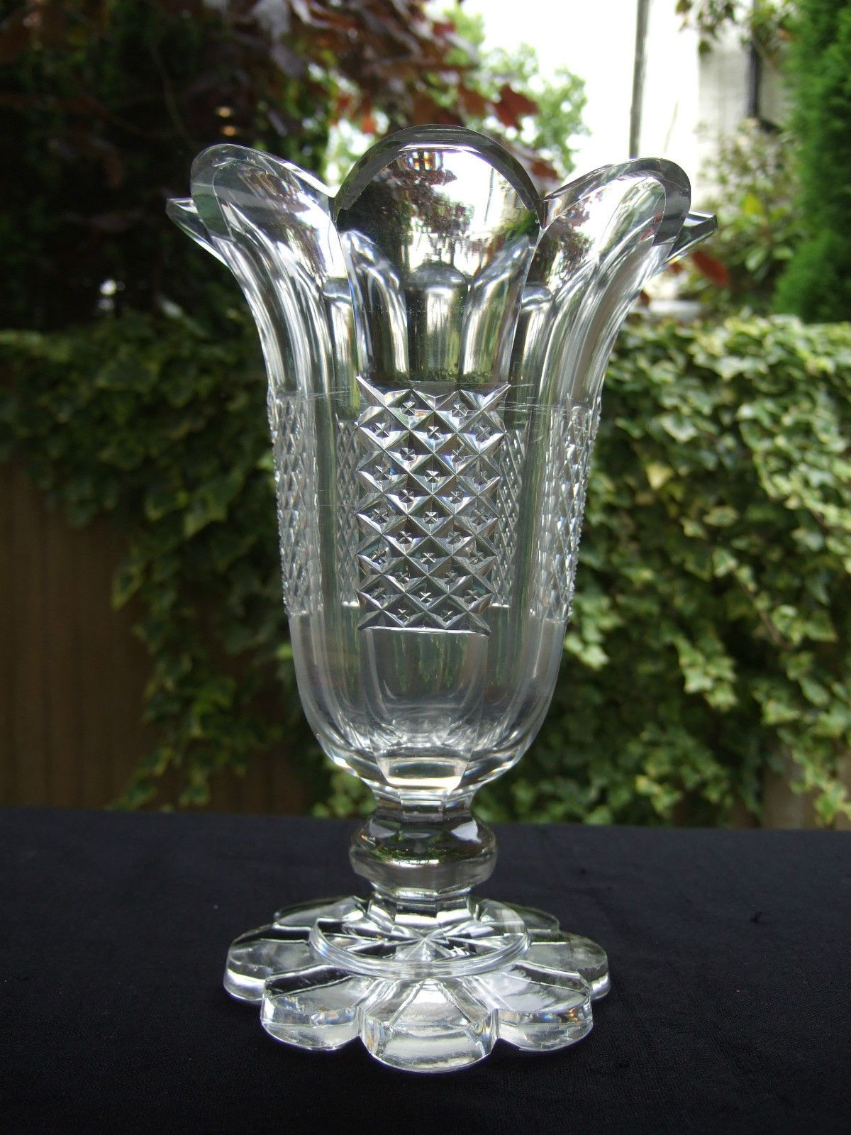 Superb c1840 large heavy victorian cut glass celery vase antique superb c1840 large heavy victorian cut glass celery vase reviewsmspy