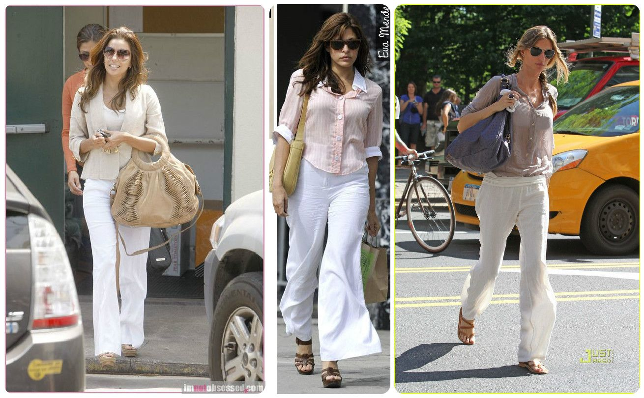 white linen pants outfits - Pi Pants