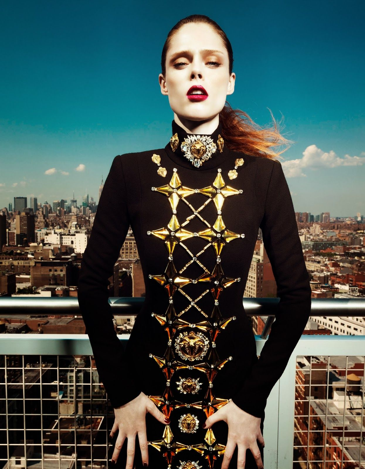 Photography style - visual optimism; fashion editorials, shows, campaigns & more!: up there: coco rocha by yin chao for harper's bazaar china september 2013