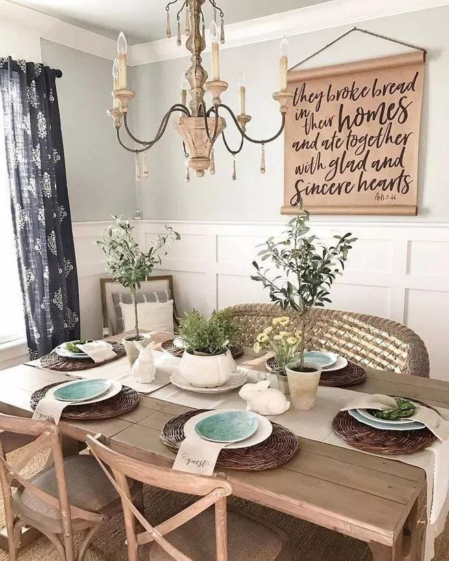 12 Rustic Dining Room Ideas: 12+ Beautiful Rustic Dining Wall Decor Ideas