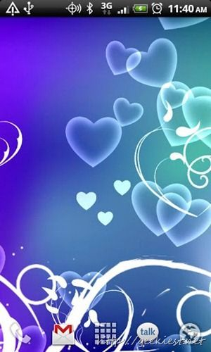 Free Valentines Day Live Wallpapers For Android Android Wallpaper Free Valentine Wallpaper Themes Blue hearts live wallpaper free android