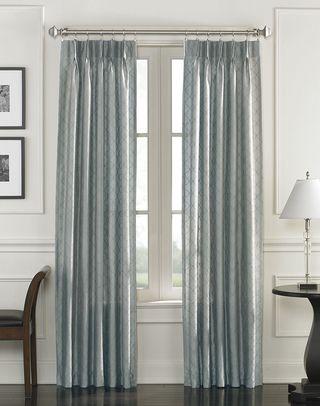 Lyon Faux Silk Pinch Pleat Drapery Panel Curtainworks Com Curtains Living Room Redo Pleated Drapery