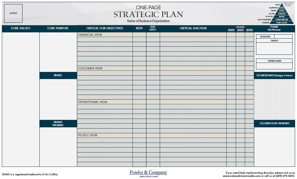 Page Strategic Plan  Google Search  Business Map Models
