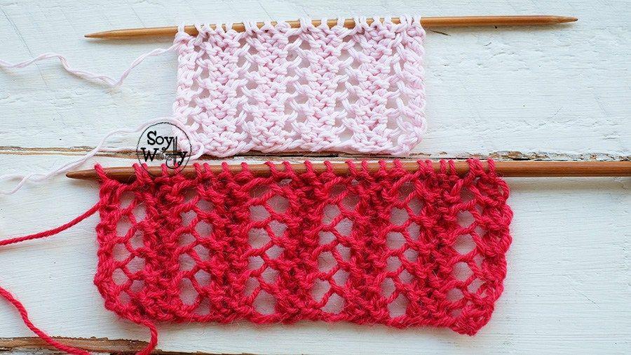 Punto de Encaje Enrejado-Soy Woolly   puntos tricot   Pinterest ...
