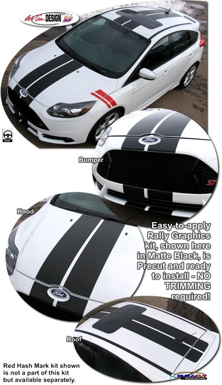 Ford Focus Rally Stripe Graphic Kit 1 St Shelby Ford Focus Rally Stripes Ford Focus St