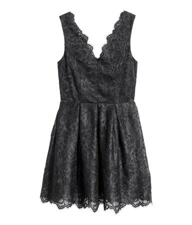 Kanten jurk   Zwart   Dames   H&M NL