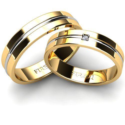 Set Verighete Firesq Va29gl Engagement Wedding Ring In 2019