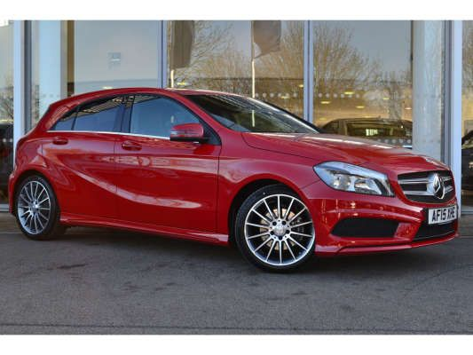 Used 2015 15 Reg Jupiter Red Mercedes Benz A Class Amg Sport For
