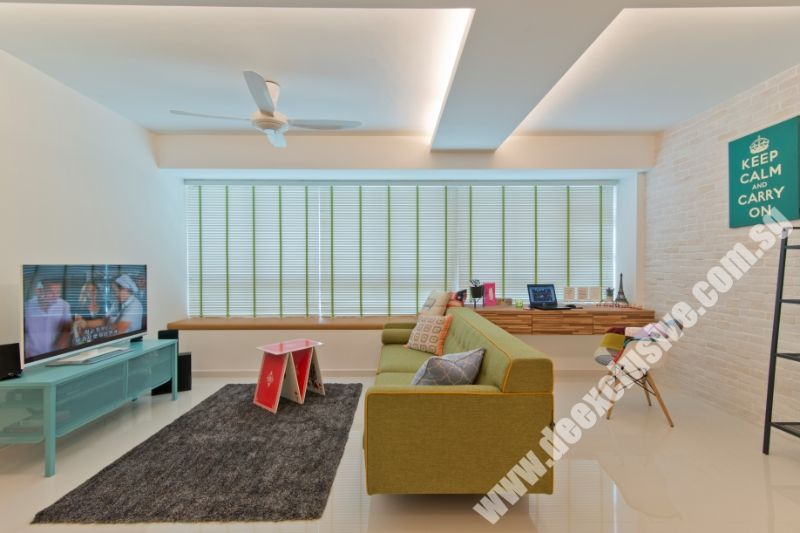 Blinds For Living Room 3 4 Height Windows Cove Lighting Along Partition Sofa