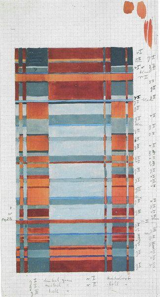 Bauhaus student Gunta Stolzl's wallhanging weave design #textiledesign
