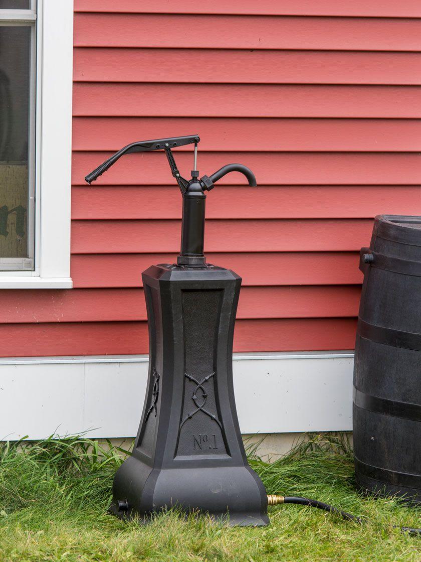 Rain Barrel Hand Pump With Stand Gardener S Supply In 2020 Rain Barrel Rain Barrel Stand Barrel