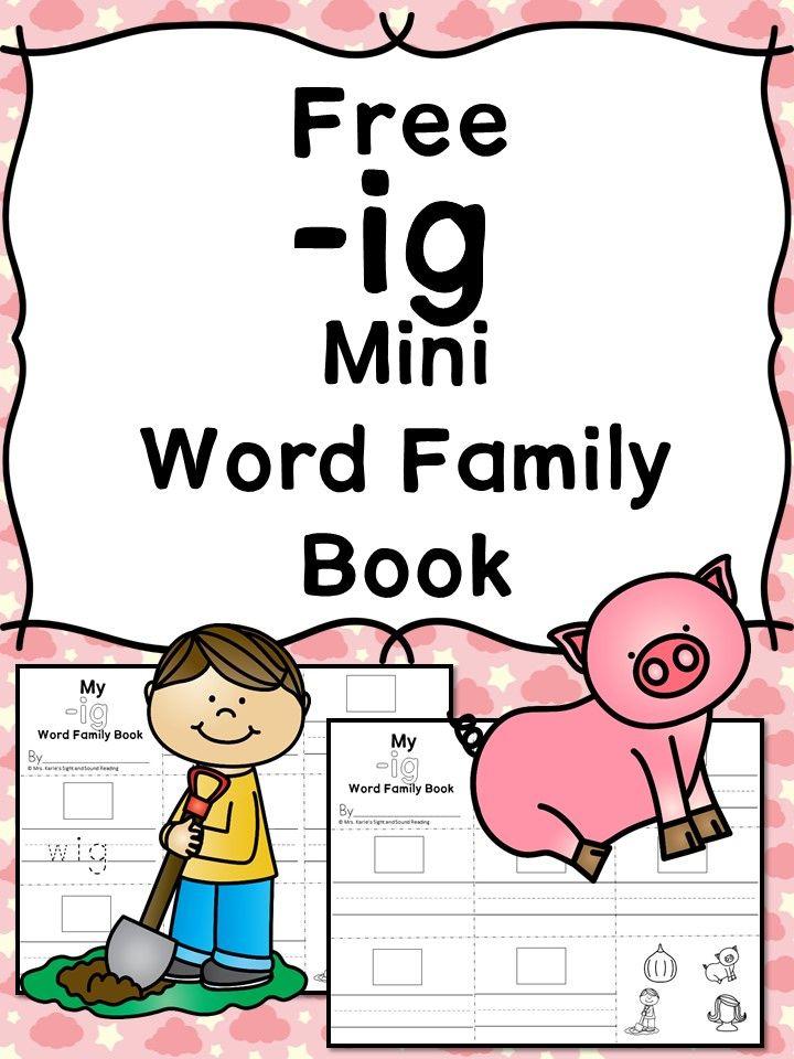 IG\' CVC Word Family Worksheet | Kind