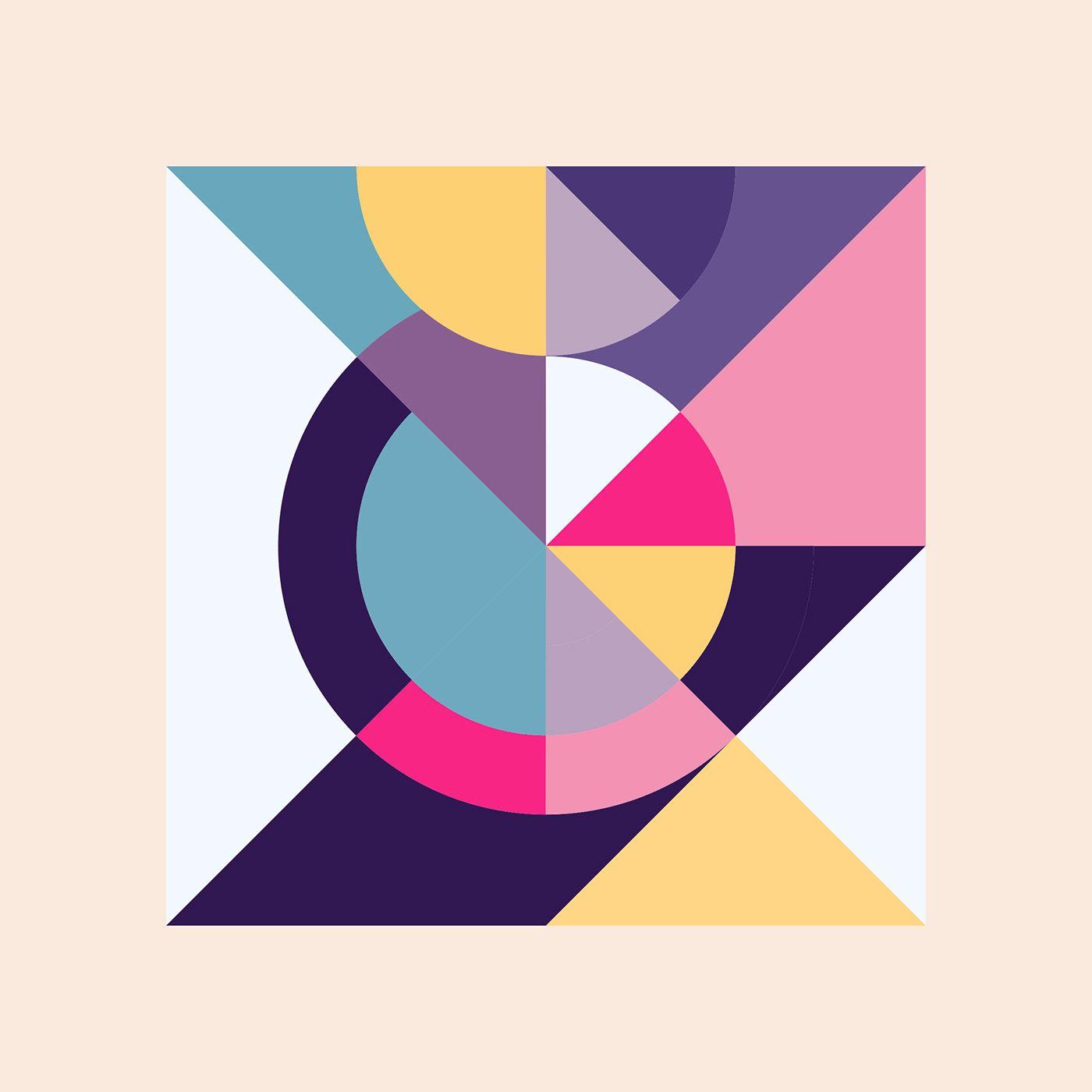 Kleurstaal On Behance Geometric Art Composition Art